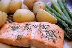 Oven baked salmon - from frozen. Easy healthy dinner