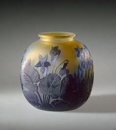 Vase decorated with Violets, Workshop of Emile Galle - Nancy, France  circa…