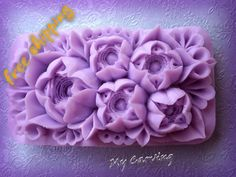 Carving bar soap, carving flower soap, lilac carving soap, lilac soap flower, lilac caving flowers, wedding soap gift, FREE SHIPPING