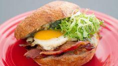 Egg, Bacon, Gorgonzola Sandwich