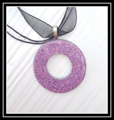 Glitter Washers - hard to believe how easy this is with such a stunning result