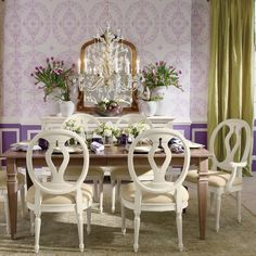 Powerful dining room decor with white dining chairs. Timeless and romantic set | Discover more: www.bocadolobo.com