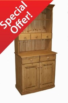 Beautiful 2 door pine dresser with spice drawers. Pine Dresser, Welsh Dresser, Pine Furniture, Dining Room Furniture, Creole Spice, Spice Drawer, Beautiful Dining Rooms, Traditional Rugs, Drawers