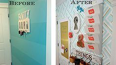 foyer organizing entryway command center wall, organizing, wall decor