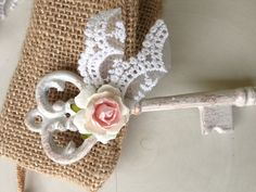 Birthday Decoration Shabby Chic Skeleton Key for by JeanKnee