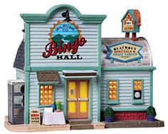 Lemax Harvest Crossing Village Collection Wilburn Co Bingo Hall 85703 * Check out the image by visiting the link. (This is an affiliate link) #CollectibleFigurines