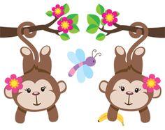 Cute Cartoon Monkeys   Monkeys Cartoon Clip Art   cartoon ...
