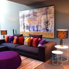 Interior by Michelle Davies Harrington Design, painting by Thierry B.