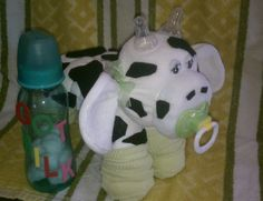 Diaper Cake  Diaper Cow  Baby Shower Gift by Whatanoccasion, $17.00