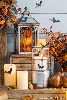 Let lanterns light the way this Halloween with this front porch inspiration!