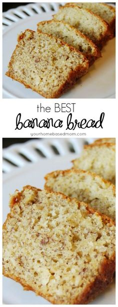 This really is the BEST banana bread you will ever try. Sub Greek yogurt for sour cream and add a little brown sugar topping!