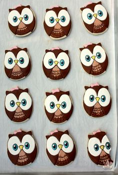 Look Whoo's Turning 1 ~ Owl Cookies By: @Sweetopia ~ Marian Poirier ~ Marian Poirier Repinned By:#TheCookieCutterCompany