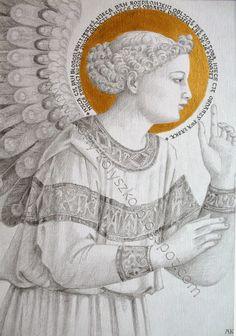 Ikony i sztuka sakralna: Święty Gabriel Archanioł. Gabriel the Archangel Fra Angelico, D N Angel, Angel Art, Religious Icons, Religious Art, Saint Gabriel, Illumination Art, Angel Images, Religious Paintings
