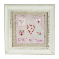 Rose and Ellis Clarendon Collection Framed Heart Picture | Dunelm
