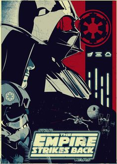 Incredible fan-made stylized Star Wars The empire strikes back poster by Tic Tac Star Wars Poster, Film Star Wars, Star Wars Episoden, Lego Star Wars, Stormtrooper, Darth Vader, Bros, Kunst Poster, Walt Disney Pictures