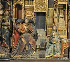 musée d'Abbeville. Retable de Thuison. Chêne polychromé, Picardie, Abbeville, vers 1500-1510