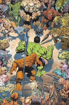 The Hulk and The Thing by Bernie Wrightson