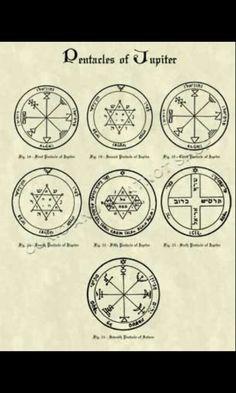 Pentacles of Jupiter - King Solomon