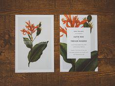 Save the date, Trevor & Katie – 20 Brilliant Examples Wedding Typography via theultralinx.com