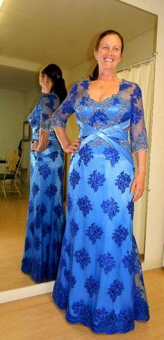 A cor azul da Mãe de noiva