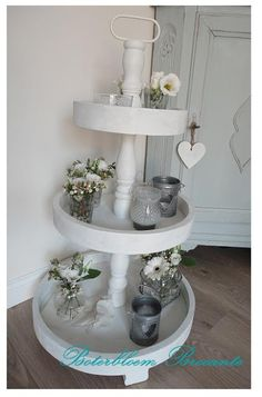 Silvered Glass Cake Stand