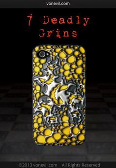 vonEvil seven deadly grins iPhone case yellow