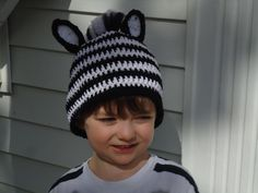 Zebra Hat -- Woot Woot this one is mine!!