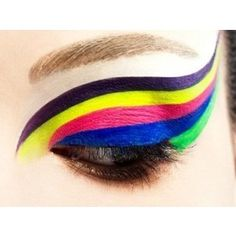Neon eye makeup Neon eyeshadow