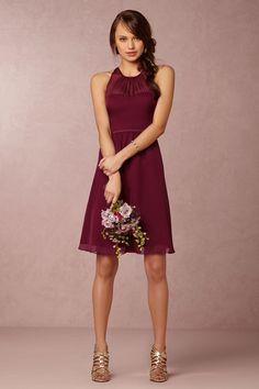 Georgina Bridesmaids Dress in black cherry from @BHLDN