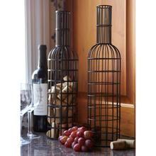 Cute Way to Display Wine Corks - Set of 2 Black Metal Wine Bottle Cork Holders