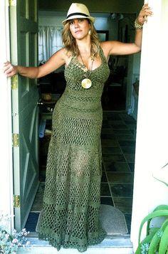 full length crochet dress by beijobaby on Etsy, $550.00