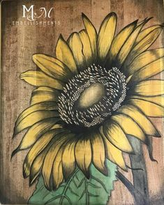 Reviving, reinventing, and refreshing home decor. I specialize in stain painted furniture art. Wood Burning Crafts, Wood Burning Patterns, Wood Burning Art, Oil Based Stain, Water Based Stain, Sunflower Art, Sunflower Pictures, Sunflower Kitchen, Sunflower Paintings