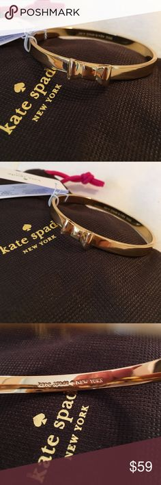 NWT🆕 Item 💯Authentic Kate Spade bracelet in gold NWT 💯 Authentic Kate Spade bow bangle bracelet in gold. Absolutely gorgeous in gold as well. It's a bangle so should fit most wrists. Looks beautiful on!!! Comes with dust bag. It's brand new with tags. Any questions or if you would like additional pics please feel free to ask 😊 kate spade Jewelry Bracelets