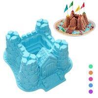3D Castle Cake Pan Bread Chocolate Bakeware Silicone Mold Fondant 3D Castle Silicone Cake Mould Baki