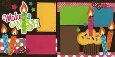 Make A Wish-Girl Page Kit  out on a limb scrapbooking