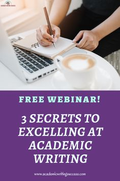 3 Secrets to Excelling at Academic Writing and Succeeding in College or Graduate School - Academic Writing Success English Writing Skills, Academic Writing, Essay Writing, Writing Strategies, High School English, Graduate School, High School Students, Research Paper, The Secret