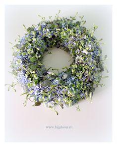 Hydrangea, delphinium & ceropegia