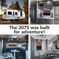 The Lance 2075 Travel Trailer is perfect for a family looking for a great adventure! Learn all about what this travel trailer could do for you on our website. Lance Campers, Rv Show, Construction Design, Truck Camper, Greatest Adventure, Tailgating, Recreational Vehicles, Hearty Meal, Travel Trailers