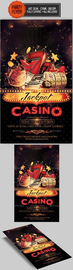 Casino Flyer Template #design Download: http://graphicriver.net/item/casino-flyer/12427514?ref=ksioks