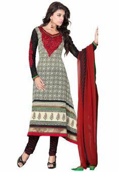Stylish Indian Designer Wear Cream, Black & Red Embroidery Saree Fabdeal, http://www.amazon.de/dp/B00H9D74NC/ref=cm_sw_r_pi_dp_CU9otb0XRK98X