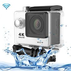 Professional Product Easy to Use H9 4K Ultra HD1080P 12MP 2 inch LCD Screen WiFi Sports Camera, 170 Degrees Wide Angle Lens, 30m Waterproof ( Color : White ). The World's Most Versatile Camera. 1. Brand new and high quality. 2. 2 inch LTPS LCD Screen. 3. Wi-Fi Remote Control. 4. 4K Ultra-HD definition.