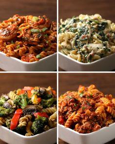 Rotini Pasta 4 Ways