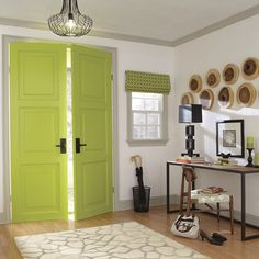Let Green Greet You At Your Painted Front Door. Color Shades, Shades Of  Green