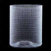 Orrefors glass vase.