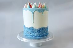 sweet and simple baby shower cake.