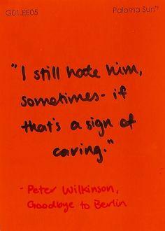 Peter Wilkinson // Goodbye to Berlin // Christopher Isherwood