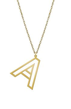 Free shipping and returns on Jane Basch Designs Varsity Initial Pendant Necklace at Nordstrom.com. Flaunt your personality and style with this necklace's blocky stencil pendant.