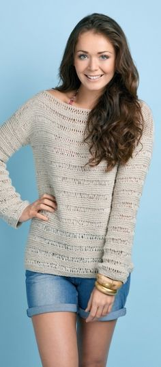Beach Top - free knitting pattern download over the LK blog!