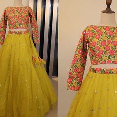 yellow color designer embroidary sequence work lehenga choli Yellow Lehenga, Lehenga Choli, Simple, Florence, Unique, Clothes, Color, Dresses, Design