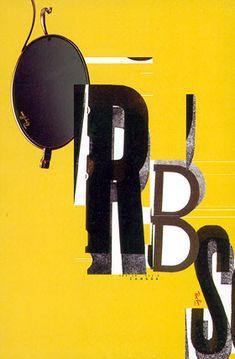 David Carson (designer), Ray Ban Sunglasses Ad Campaign, 1990